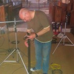Our expert and professional recording engineer Adrian Hunter; a delight to work with.